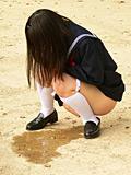 清純派女子校生羞恥の野ション